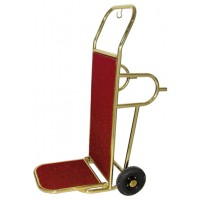 Bőröndszállító molnárkocsi sárgaréz bev.
